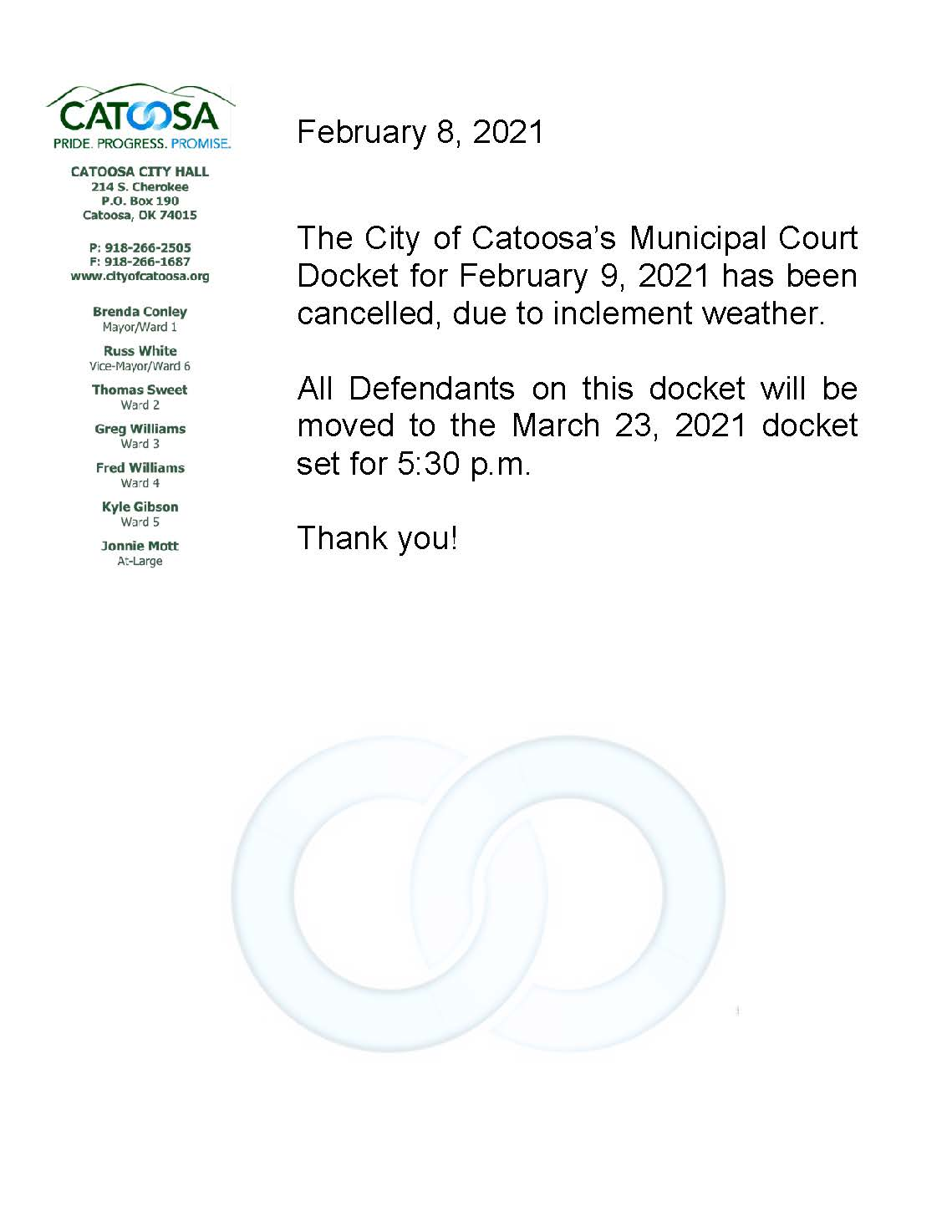 Municipal Court Closure